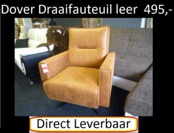 Dover Draaifauteuil Cognac Kleurig Leder