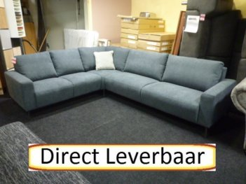 Scandia Hoekbank Grijs Stof Maatwerkbank