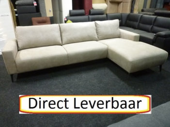 Scandia Loungebank Grey Pilotenstof Pocketvering