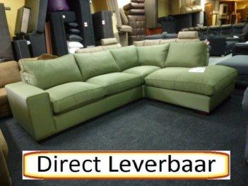 Firenca Hoekbank Groen Stof Latex Vlok