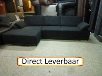 Loungebank Slaapbank H10 Zwart Microvezel