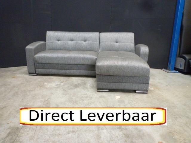 Donker Grijze Slaapbank.Loungebank Slaapbank H8 Kubo Donker Grijs Hoekbanken Nl