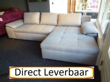 Loungebank Grijs Stof H37 Omwisselbare Lounge Gedeelte