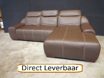 Loungebank H44 Bruin Lederlook Mooie Sticksels