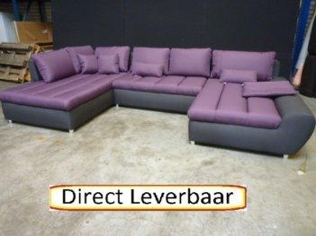 U Hoekbank Lila Grijs H46 Zeer Royale Loungebank