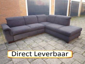 Hoek Slaapbank Antraciet Zwarte Stof H124