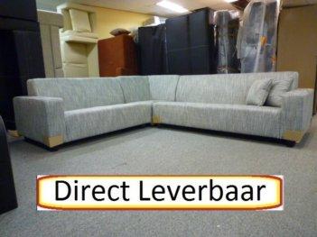 Hoekbank Bora Grijs Stof XXL Bank