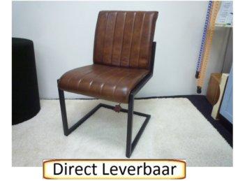 Eetkamerstoel Donkerbruin Leer Leroy Urban Sofa