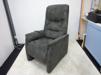 Cointour Sta Op Stoel Relaxfauteuil Antraciet Altara Stof