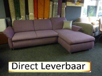 Lounge Slaapbank H123 Opbergvak Rug Verstelbaar