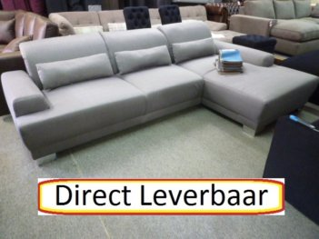 Loungebank Paradine, Antraciet Met Pocketvering