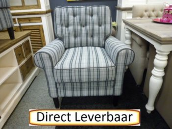 Toscane Fauteuil Striped Grey Black Urbansofa