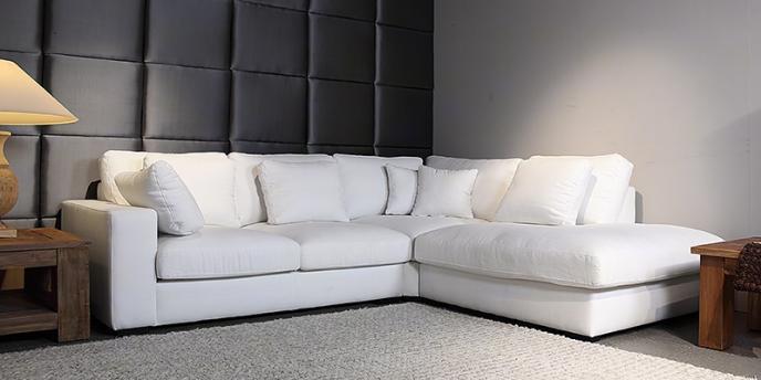 Witte hoekbanken