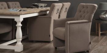 Toulouse Eetkamerstoel Wieltjes Arms Urban Sofa