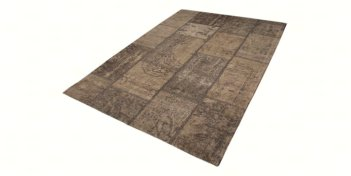 Vloerkleed Goa Patch Taupe 160×240