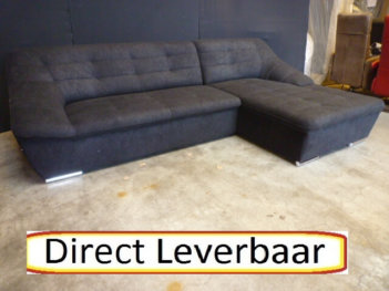 Lounge H67 Bank Zwart Microvezel Uitgevoerd
