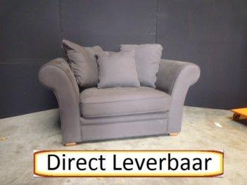 Loveseat H61 Antraciet Grijs Stof Inclusief Kussens