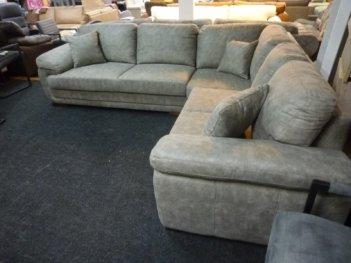 Hoekbank Evan Grijs Pilotenstof Grote Corner Sofa!