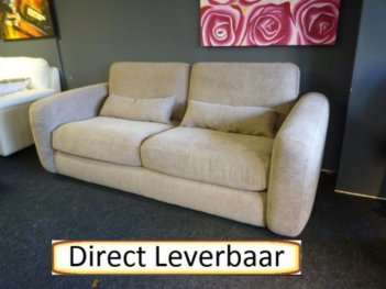 Slaapbank Amsterdam Taupe Stof Inclusief Matras