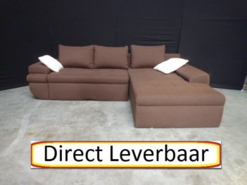 Loungebank Slaapbank H3 Bruin Stof