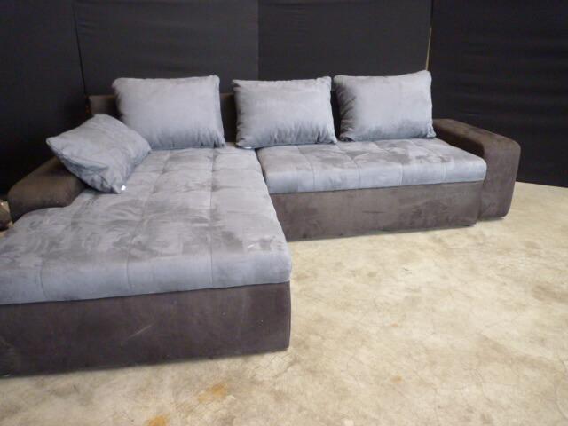 Slaapbank Lounge Grijs.Lounge Slaapbank H14 Grijs Met Zwart Alcantara Hoekbanken Nl