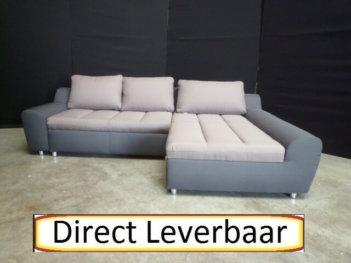 Lounge Slaapbank H18 Grijs Met Taupe Stof