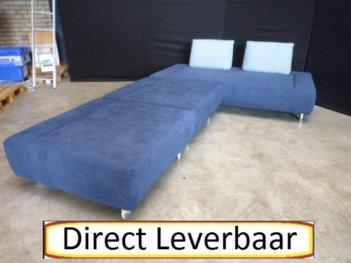 Elementenbank H32 Blauw Stof 3 Delig