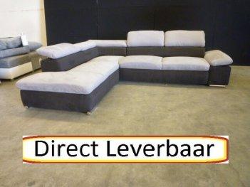 Hoekbank Grijs Zwart Altara H26 Klapleuningen