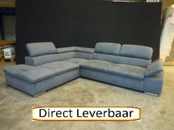 Hoekbank Grijs Altara H5 Klapleuning