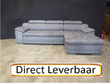 Loungebank Rotterdam 11 Grijs Altara Klapleuningen