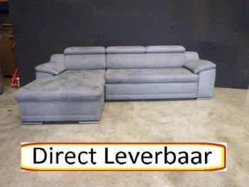 Loungebank H8 Grijs Altara Klapleuningen
