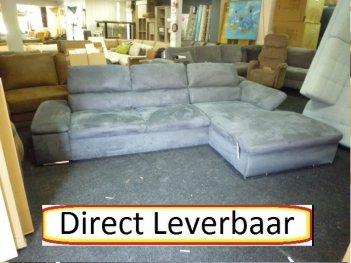 Loungebank H9 Grijs Altara Klapleuningen