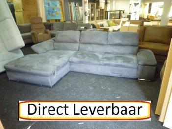 Lounge Slaapbank H9 Grijs Altara Klapleuningen