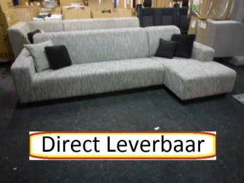 Loungebank Bora Modern Design Grijs Stof
