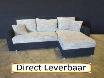 Lounge Slaapbank H65 Grijs Stof Met Zwart Altara (kopie)