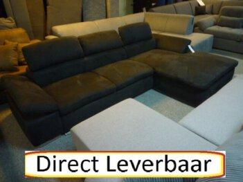 Loungebank H67 Zwart Altara Klapleuningen