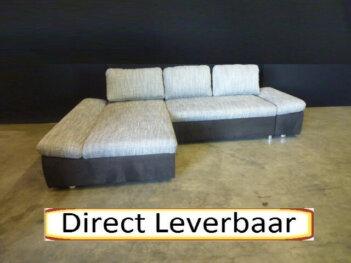 Loungebank H77 Grijs Stof Met Zwart Altara