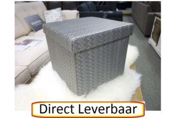 Opbergbox Grijs Geweven Glim Stof