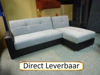 Lounge Slaapbank Rotterdam 9 Grijs Stof Opbergvak