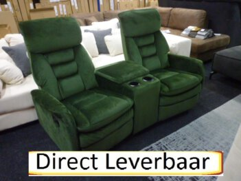 Bioscoop Relax Bank Man Cave Relax Set Groen Velours