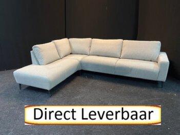 Scandia Hoek Loungebank Grijs Stof