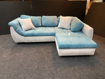 Lounge Slaapbank H13 Blauw Met Lichtgrijze Stof